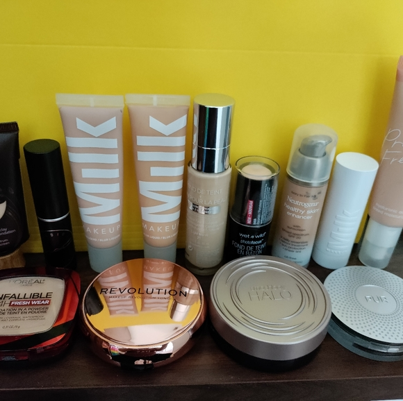 Lot of fair/light foundations and concealers